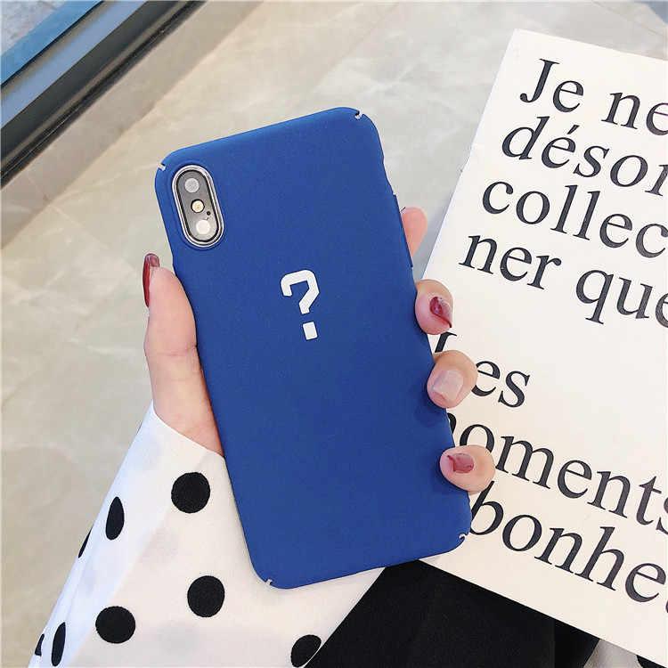 Huruf Merasa Baik Ponsel Case untuk iPhone 8 Kasus Slim Cute Permen Warna Hard Cover Coque untuk iPhone 6 S 7 8 Plus X S MAX XR Case