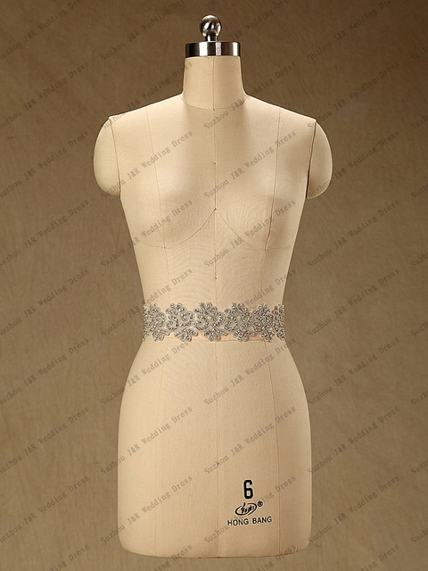 Luxury Bling Crystal Belt For Wedding Dress Crystal Wedding Sash Custom Made