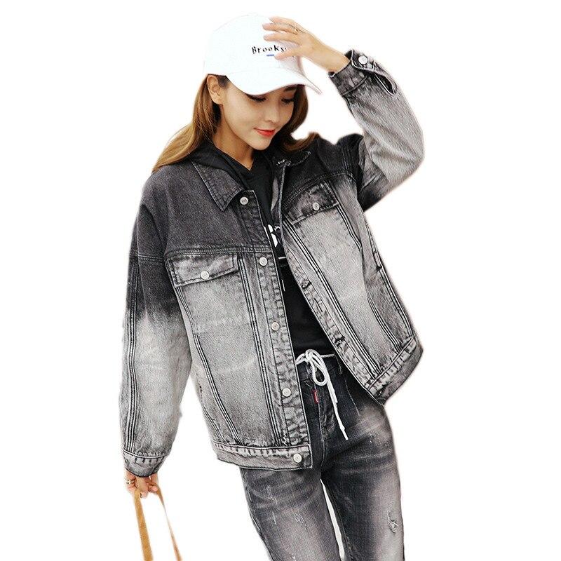 2019 nouvelles femmes Denim veste mode sauvage décontracté rétro dames Cowboy hauts élégant simple boutonnage à manches longues vêtements d'extérieur Lj294