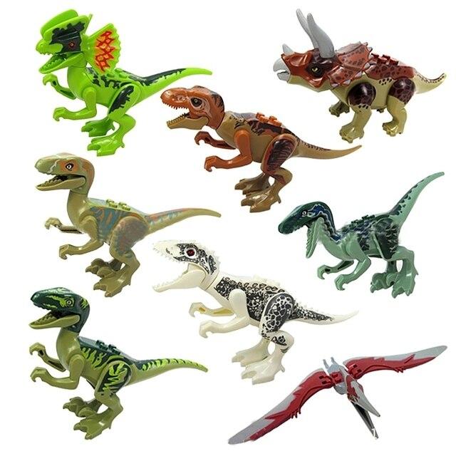 hairun 8Pcs/lot Jurassic Figures Set Toys for Kids Dinosaur
