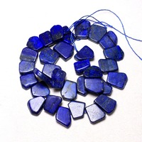 Wholesale 18 20 Mm Irregular Pentagon Natural Lapis Lazuli Stone Beads For Jewelry Making Side Hole