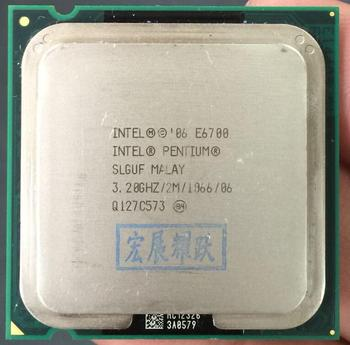 Ücretsiz Kargo Intel CPU Pentium E6700 CPU/3.2 GHz/LGA775/775pin/2 MB L2 Önbellek/ çift ÇEKIRDEKLI/65 W İşlemci çizik parça