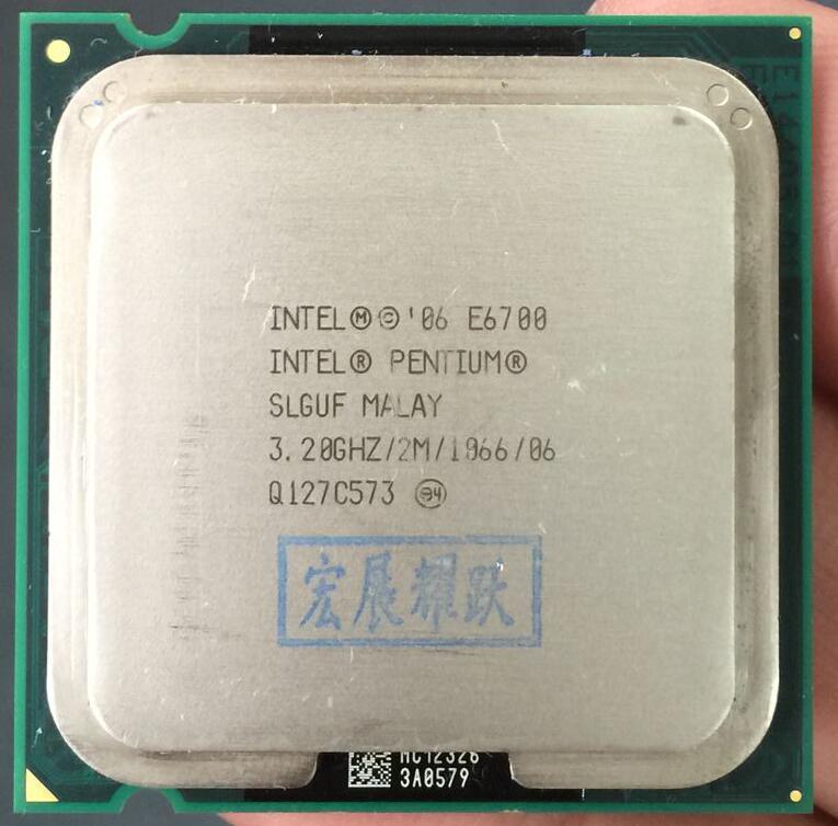 Free Shipping Intel CPU Pentium E6700 CPU/ 3.2GHz/ LGA775 /775pin/2MB L2 Cache/ Dual-CORE/65W Processor scrattered piece