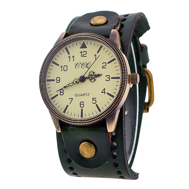 Men's Watch Luxury Brand Vintage Leather Watch Men Women Wristwatch Ladies Dress Quartz Watch Men's Watches Reloj Hombre women vintage watch ladies lace printed analog leather quartz watch women 2016 brand luxury famous wristwatch reloj hombre