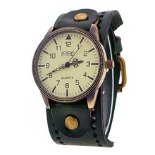 Men s Watch Luxury Brand font b Vintage b font Leather Watch Men Women Wristwatch Ladies