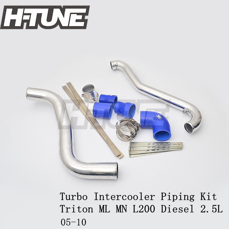 H-TUNE Aluminum Polished Turbo Intercooler Piping Kits for Triton ML MN L200 Diesel 2.5L 05-10 lift kit for toyota hilux revo