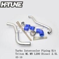 H TUNE Aluminum Polished Turbo Intercooler Piping Kits for Triton ML MN L200 Diesel 2.5L 05 10