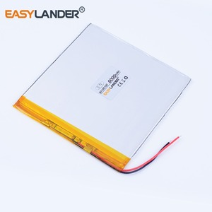 33100100 3.7V 6000mAh lithium polymer battery For texet TM-7858 lrbis TZ 82 7 inch 8 inch 9inch battery 32100100 35100100(China)