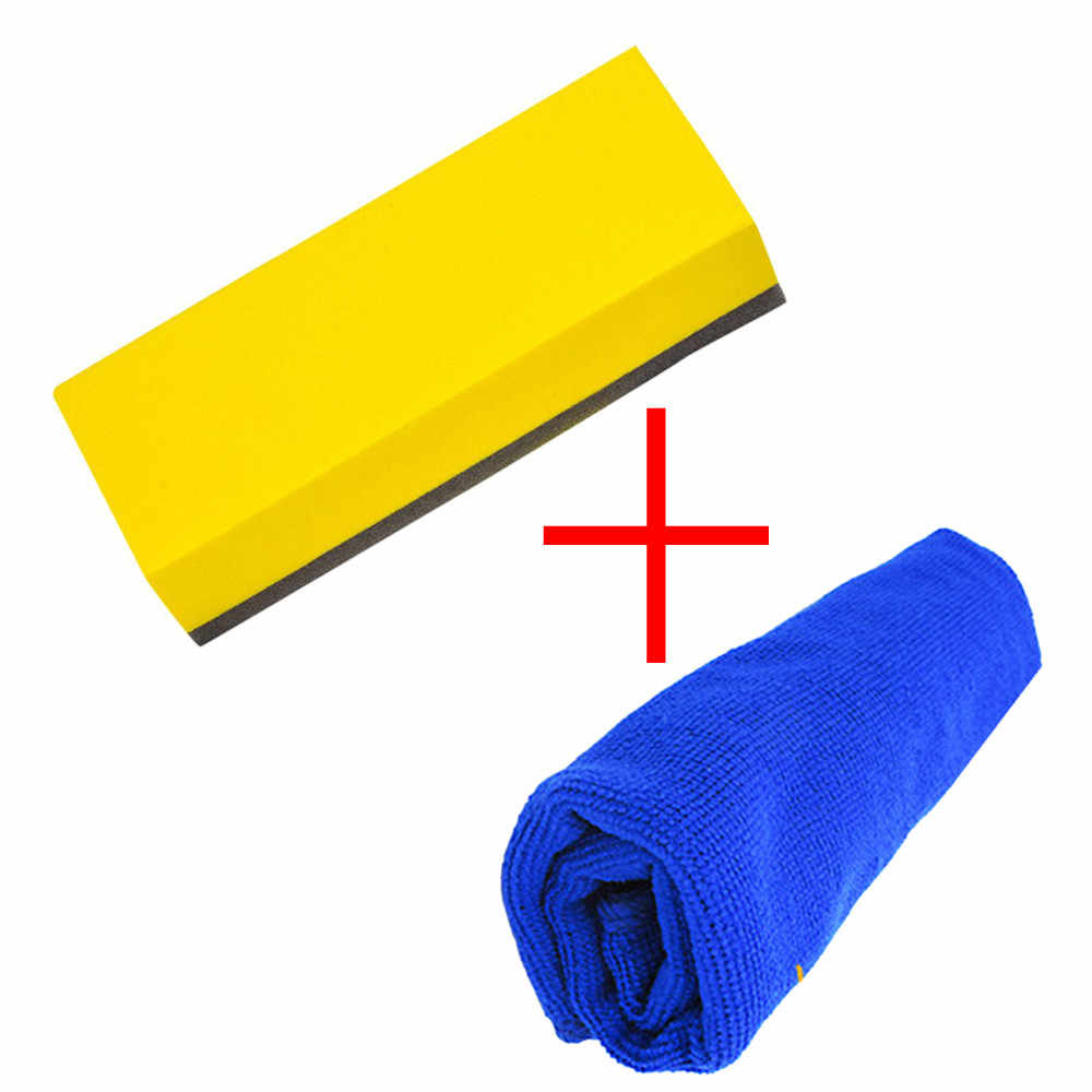1 Set Top Quality Car Liquid Coat Super Glass Coating Car Polish Sponge Towel Waxing Brush cleaning / detailing / valeting