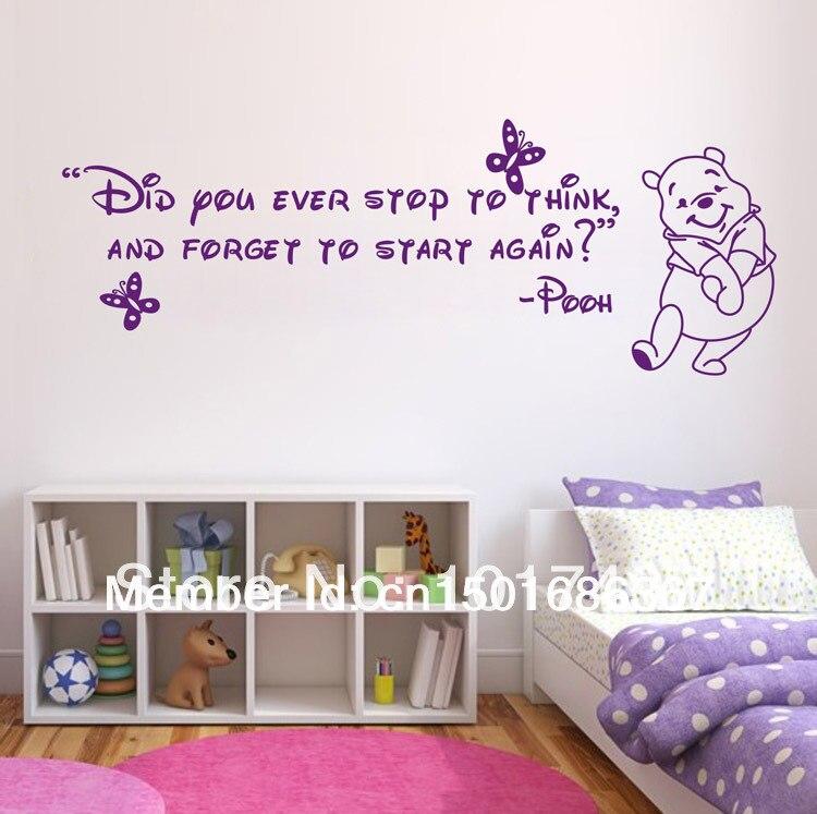 Free Shipping Ebayamazon Hot Selling Winnie The Pooh Wall Sticker Cartoon  Wall Art With Amazon Dcoration