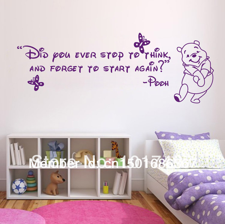 Beautiful Free Shipping Ebay/Amazon Hot Selling Winnie The Pooh Wall Sticker /  Cartoon Wall Art