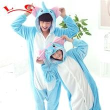 L G TOP CALIENTE Blue Elephant Pijamas Adultos Onesie Ropa de Dormir de Cosplay Animal de la Historieta de Halloween Navidad Traje de Las Mujeres de Los Hombres