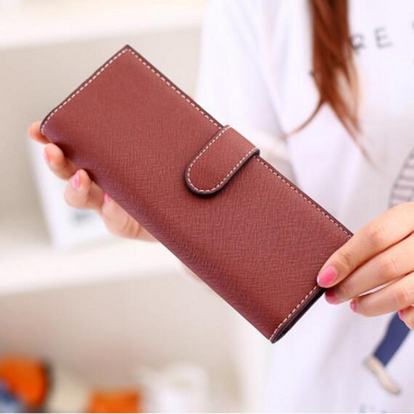 55 cards fashion women female leather long designer business name credit card holder portefeuille femme carteira