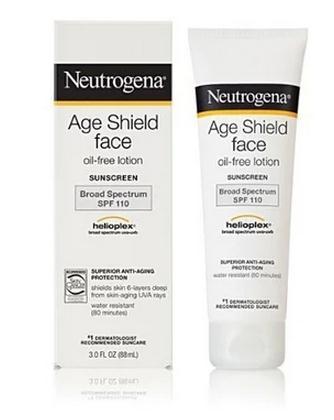 Neutrogena/ Neutrogena age shield face antioxidant sunscreen SPF110 / 88ml neutrogena 50ml