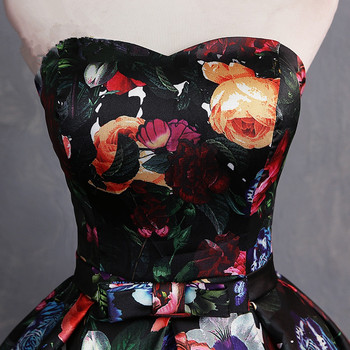 JaneVini Elegant Sweetheart Floral Prom Dress Print Pattern Satin Floor Length Dresses Women Plus Size Ball Gown Evening Dress 4