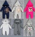 Recém-nascidos do bebê elefante leão Mickey animal Romper da criança para meninos meninas macacão infantil kleding jurkjes enxoval de roupas