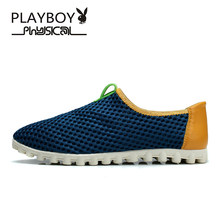 PLAYBOY 2016 Men Shoes Summer Sapatos Casual Outdoor Fahsion Quality Amphibious Shoes Brand Breathable Men Shoes Plus Size 39-45(China)