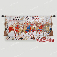 Soldiers Set Off Wall Hanging Tapestry Cotton Home Textile Deco Tapiz Gobelin Tapisserie Arazzo Medievale GT003