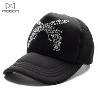 2018 Sale Limited Cool Summer Rhinestone Women Baseball Cap Guns Pattern Truck Breathable Mesh Casual Hat Adjustable Snapback