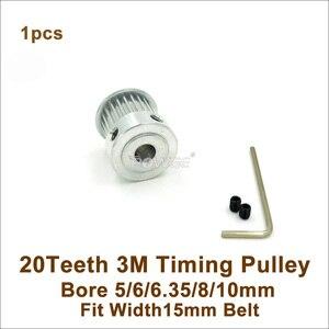 Ременный ролик POWGE, 20 Зубцов, 3 м, диаметр отверстия 5/6/6, 35/8/10 мм, ширина 15 мм, HTD, 3 м, ремень 20 T, 20 Зубцов, HTD, 3 м, ролик с ЧПУ для гравировки