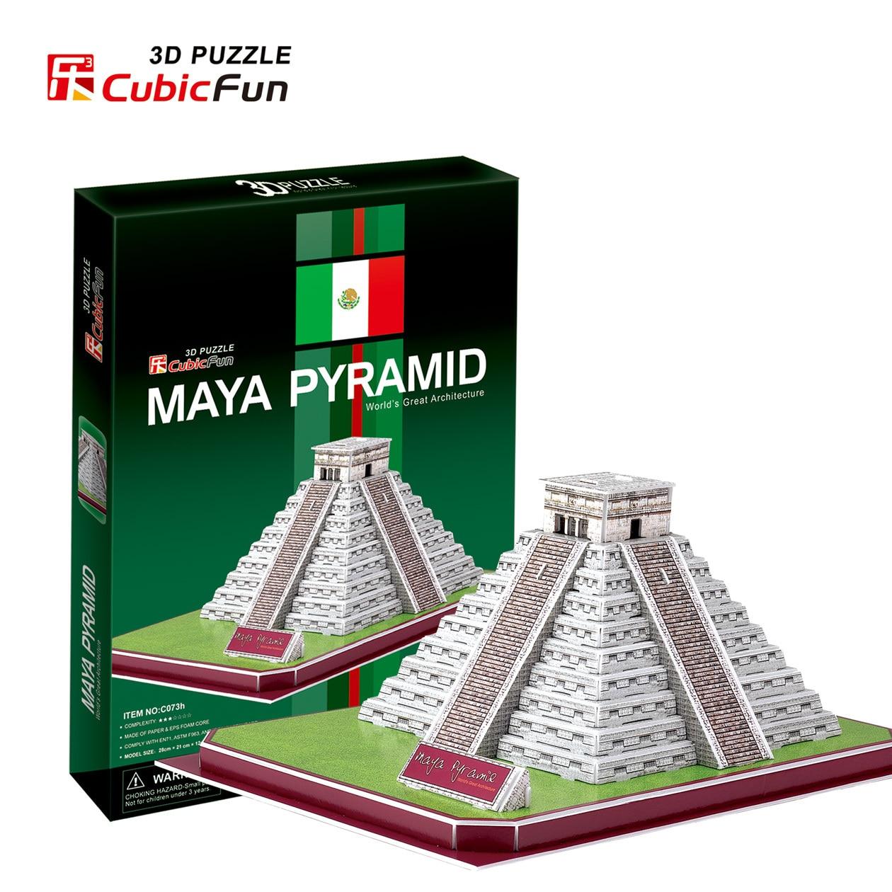 3D puzzle toy CubicFun paper model jigsaw game mini Maya Pyramid baby gift 1pc