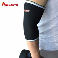 Roegadyn Crossfit Тяжёлая атлетика Локоть рукава 7 мм Высокая неопрена для Вес подъема пауэрлифтинг одна пара