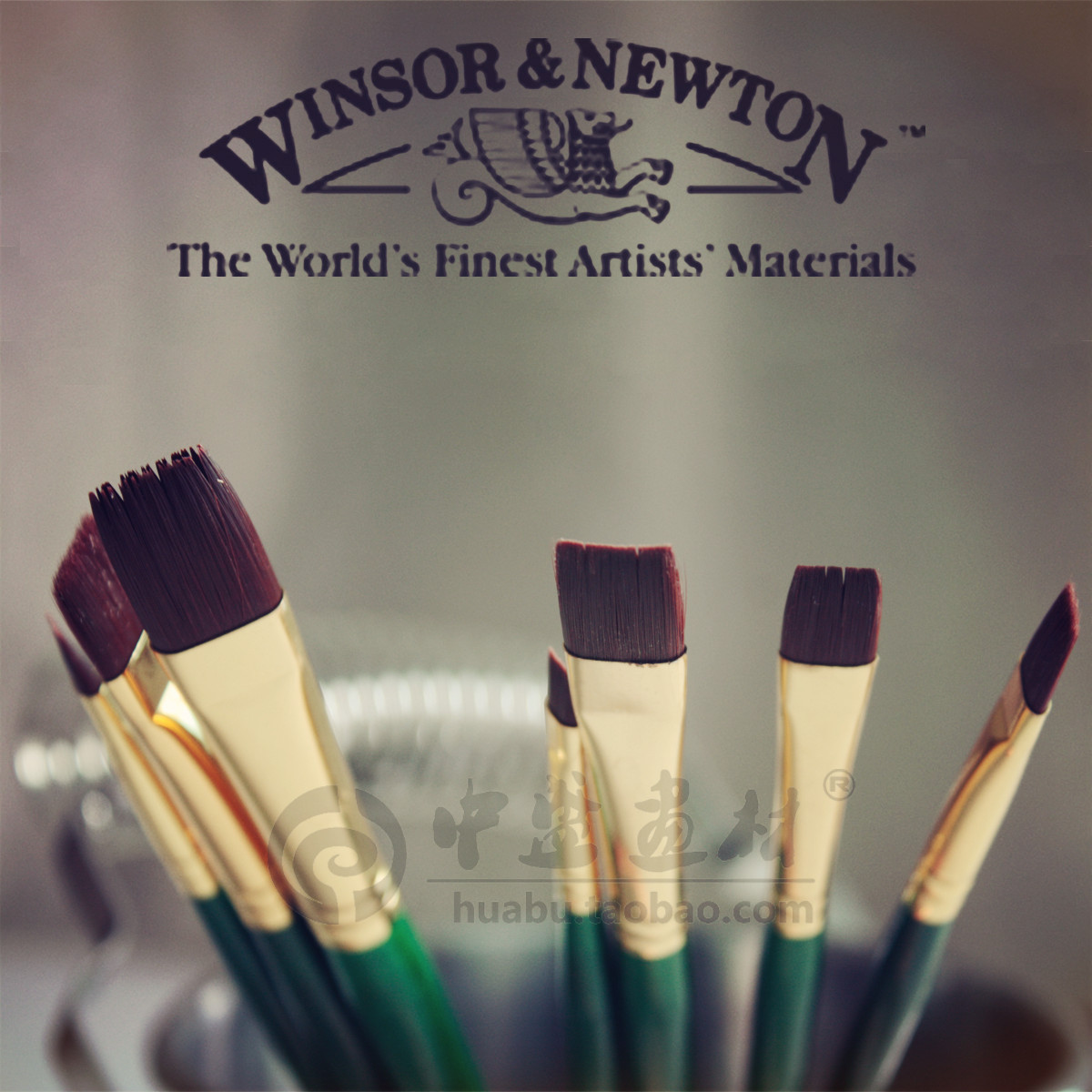 Winsor & Newton Extra fine Acrylic,oil color paint bursh.Art paint brush set.A short flat.wooden handle,High grade.Good quality. michael newton hinge saatus