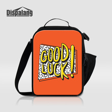Dispalang удачи печати Пикник Ланч-бокс для детей студентов Портативный пищевые сумки обед Малый Термальность сумка-холодильник для школы