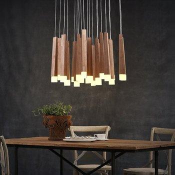 אורות תליון בסגנון כפרי האמריקאי עץ תליון מנורות גופי תאורה לבית גן בית דקורטיבי readingroom led חם