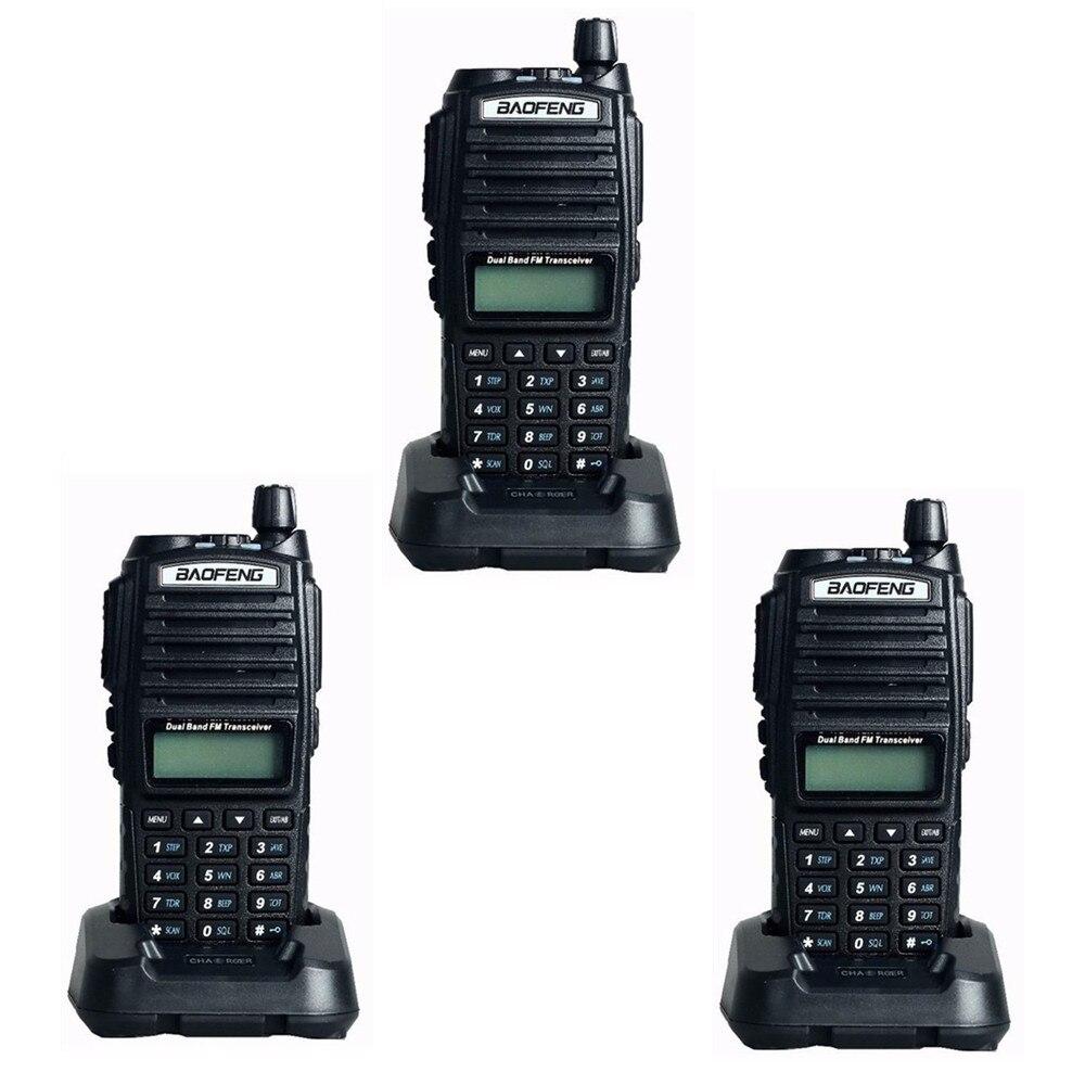 bilder für 3 stücke BaoFeng UV-82 Dual-Band 136-174/400-520 MHz FM Ham Zwei-wege-radio, Transceiver, Pofung dual PTT walkie talkie BF-UV82 UV82
