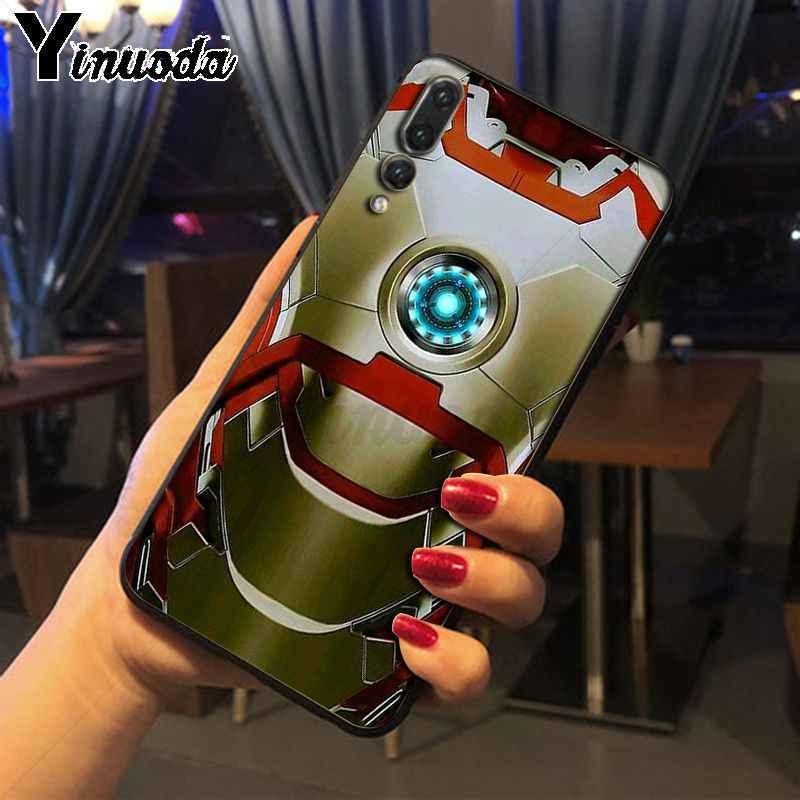 Yinuoda Marvel Tony Stark Homem De Ferro tpu tampa da caixa de Telefone para Huawei nova 3i P20Lite P10 Plus Mate10Lite Mate20 P20 pro 8X capa