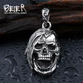 Beier factory price top quality  pendant necklace punk skull pendant Fashion jewelry BP8-199