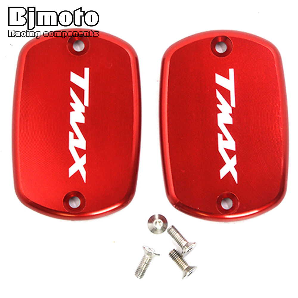 OC-006C Hot sale 1 Pair Motorcycle Brake Fluid Tank Cap Cover For Yamaha T-Max 530 2012-2016 T MAX 500 2008-2011 motorcycle cnc front brake fluid reservoir cap cover for yamaha t max 530 500 tmax530 xp530 2012 2016 tmax500 xp500 2008 2011