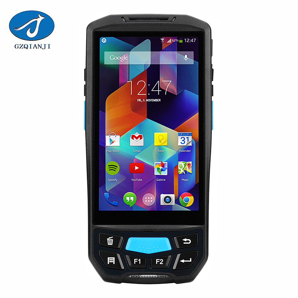 GZPDA02 Wireless Barcode Reader Data Scanner Laser Barcode Data Collection Data Terminal Rugged Smartphone in PDA with Thermal ...