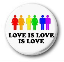 High quality LOVE IS Button Badge - Novelty Cute Pride LGBT Gay low price  lapel pin FH680023