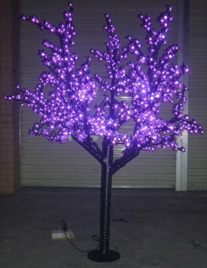 Free ship Indoor /Outdoor Christmas Holiday party wedding Light LED Cherry Blossom Tree Holiday Decor 864 LEDs 6ft purple