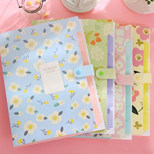 Fashion Classic Floral Paper File Document Bag Pouch Folder Bag School Stationery