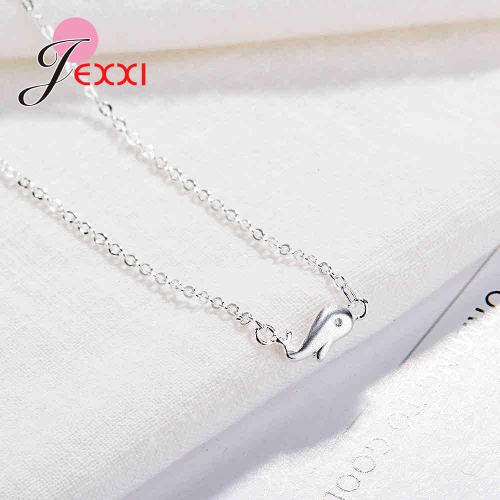 Conception Simple petit dauphin forme pendentif collier pour fille gars 925 bijoux en argent Sterling Top qualité collier chaud en gros