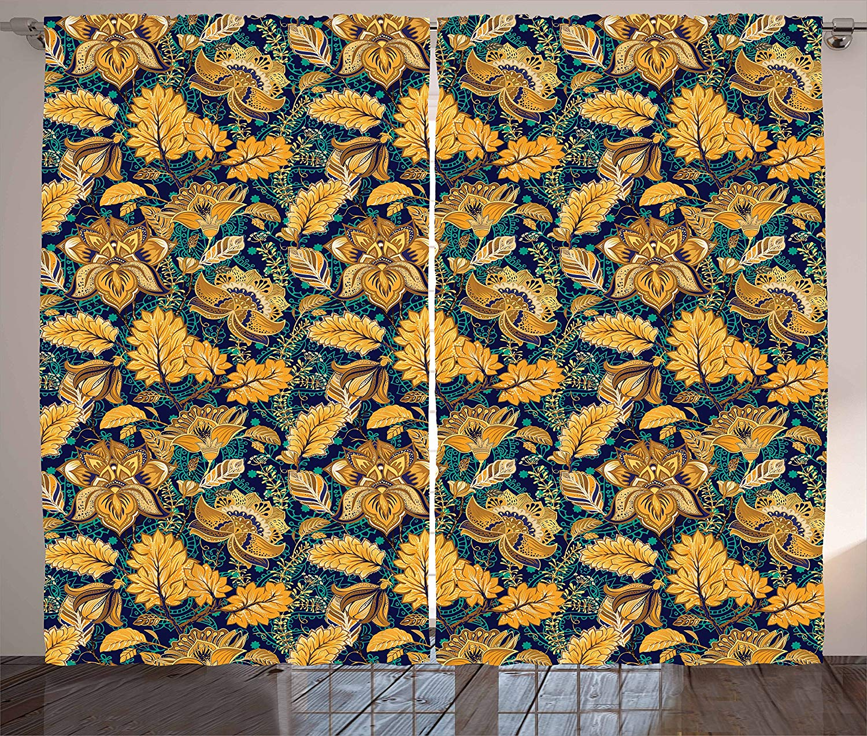 Asian Kitchen Curtains Medieval Oriental Flower Motifs Exotic Fantasy Garden Theme Eastern Ethnic Pattern Window Drapes AliExpress