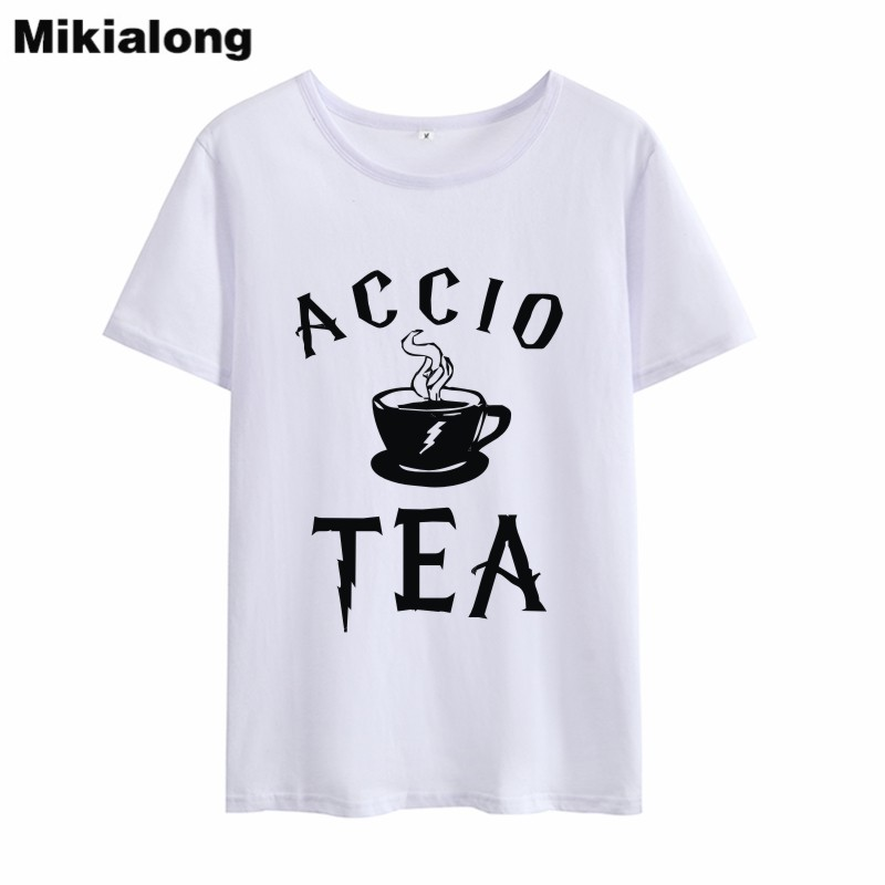 OLN 2018 Summer New Arrival Funny T Shirts Women T-shirt femme ACCIO TEA Graphic Women Tops Tee Shirt Short Sleeve Tshirts ...
