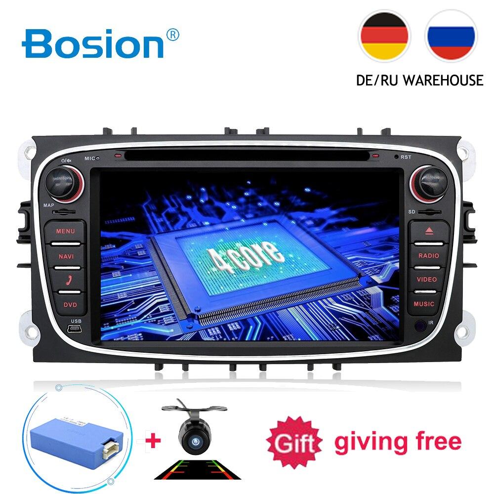 4 2 din Android 7.1 Quad Core DVD Player Do Carro GPS Navi RDS USB SD Para Ford Focus Mondeo Galáxia com Áudio Estéreo Rádio Unidade de Cabeça