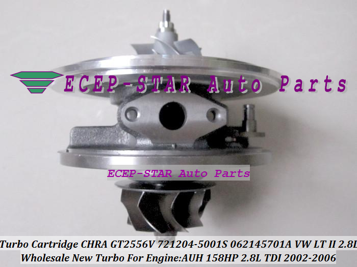 Free Ship Turbo Cartridge CHRA Core GT2556V 721204 721204-0001 0529201007102 0529201007104 For Volkswagen VW LT 2 02-06 AUH 2.8L image