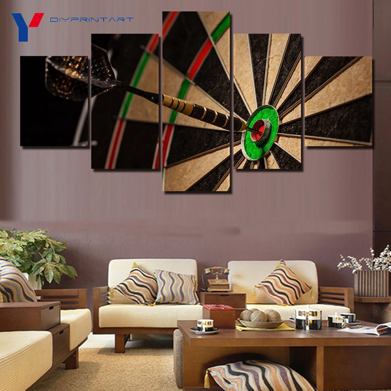 Darts Target 5 Pcs/set Art Painting Home Decoration Sport Toy Paintings for Livingroom A0315
