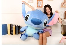 lovely stitch toy blue stuffed toy plushe doll birthday gift huge toy about 90cm