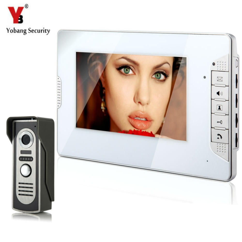 YobangSecurity Video Intercom Monitor 7 Door Phone Home Security Color Wire 1 Camera 1 Monitor for House/Office/apartment/HotelYobangSecurity Video Intercom Monitor 7 Door Phone Home Security Color Wire 1 Camera 1 Monitor for House/Office/apartment/Hotel