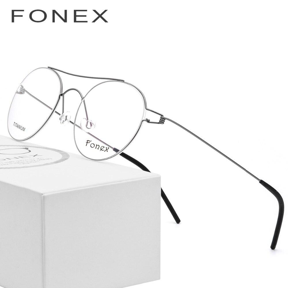 4f17e426ae Aleación de titanio óptica gafas de mujeres Vintage miopía anteojos  recetados hombres rojo coreano Dinamarca sin tornillos gafas