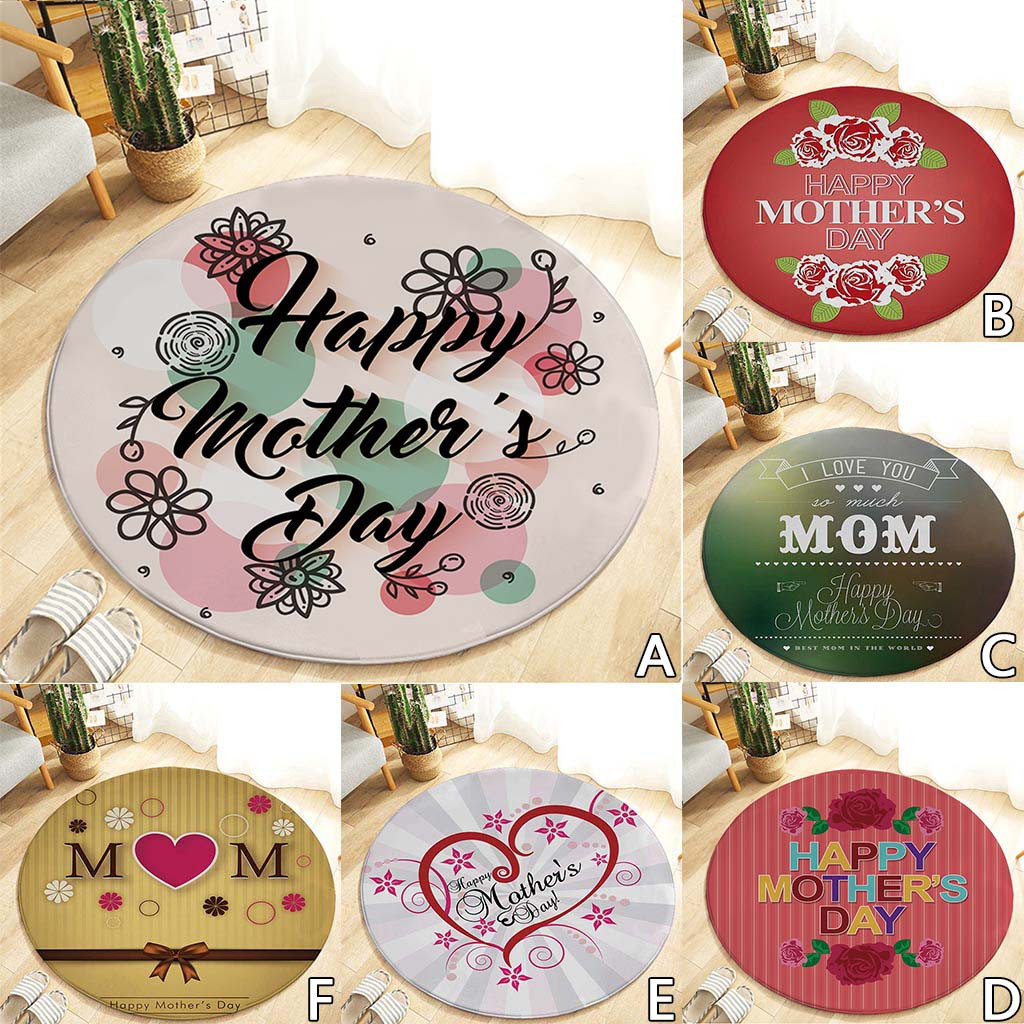 2019 New Heart Happy Mothers Day Pattern Round Area Rug Coral FLeece 120cm Drop Shipping2019 New Heart Happy Mothers Day Pattern Round Area Rug Coral FLeece 120cm Drop Shipping
