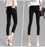 2015 New Fashion Women Pants Harem Capris Summer Style Pencil Pants Slim Trousers Casual Embroidered Flares