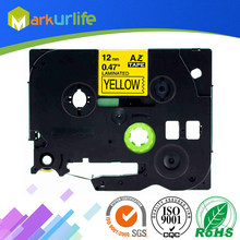 1 stks/partij 12mm * 8 m Tze 631 Tze631 Zwart op Geel Gelamineerd Tape Compatibel P touch 12mm tze-631 Label Tape Cartridge tz631(China)