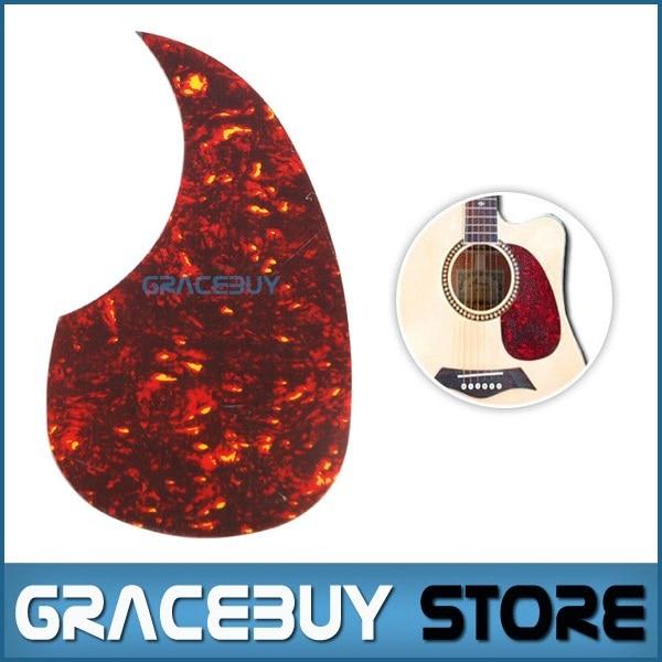 40 41 42 Acoustic Guitar Pickguard Pick Guard Sticker, R64mm Red Color Plastic - Alice A025B